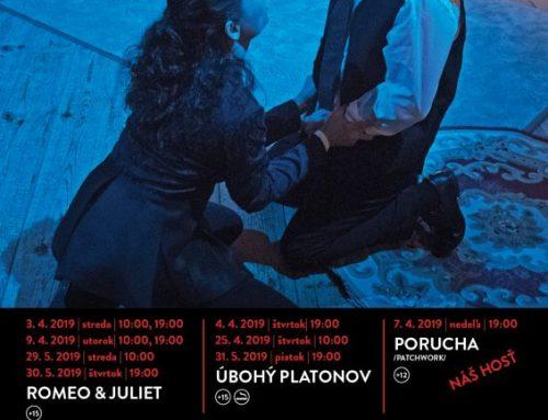 Program scény Jorik na apríl a máj